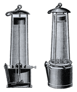 Mining Safety Lamp- Davy Lamp